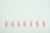 Pastel color clip.   パステルカラーのクリップ 白色背景 - 222259420