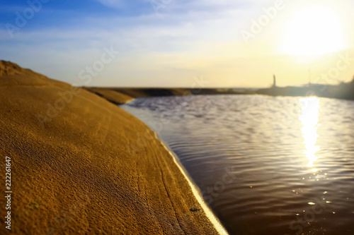 Beach with a sandy beach