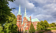 Finland, Helsinki, the Church of St. John. Sights of the capital of Finland. Beautiful city landscape