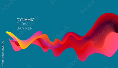 Abstract colorful vector background, color flow liquid wave for design brochure, website, flyer. © striZh