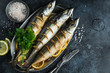baked mackerel with lemon and herbs - 222265868