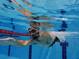 Swimmer in the Pool Underwater - 222271279