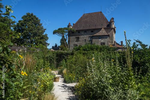 Sticker Jardin et château d' Yvoire en Haute-Savoie