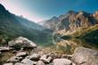 Leinwanddruck Bild - Tatra National Park, Poland. Small Mountains Lake Zabie Oko Or M