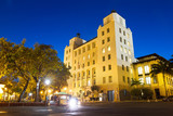 Jose V. Toledo federal building and courthouse in San Juan, Puerto Rico, at night  - 222289097