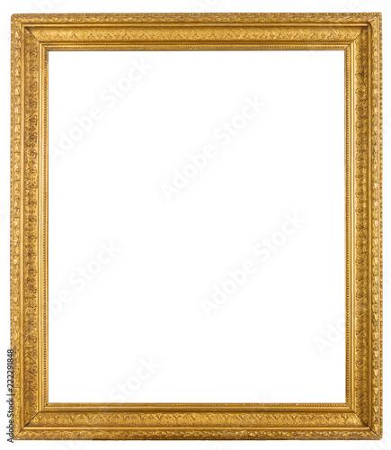 Vintage ornate gold gilt frame isolated on white background | Buy ...
