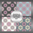 Mandala pattern with retro pastel colors - 222303833