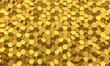 golden hexagon mosaic background