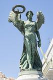 Denkmal für die die Toten des 1. Weltkrieges (Siegesgöttin Nike), Hermoupolis, Insel Syros, Griechenland - 222311068