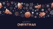 Christmas season low poly copper ornament pattern