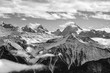 Swiss Alps scenery. Winter mountains. Beautiful nature scenery in winter. Mountain covered by snow, glacier. Panoramatic view, Switzerland, holiday destination for sports and hiking