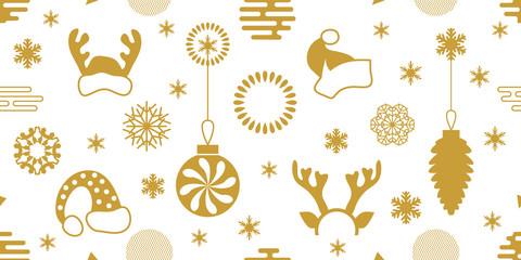 White and golden festive Xmas background.