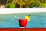 Fruit cocktail on Maldives beach - 222341008