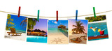 Maldives beach images (my photos) on clothespins - 222341016