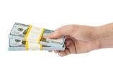 Hand with money - 222341033