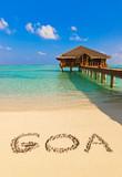 Word Goa on beach - 222341035
