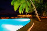 Pool on tropical Maldives island - 222341063