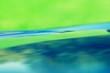 Leinwandbild Motiv Abstrakter Hintergrund in Grün und Blau