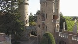 Aerial view to Bory Var, graceful castle built by one man Bory Jeno in the Szekesfehervar, Hungary - 222346677