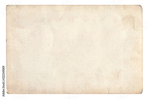 Vintage paper background isolated - (clipping path included) © MMphotos