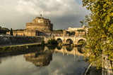 Angels bridge and castle in Rome Italy