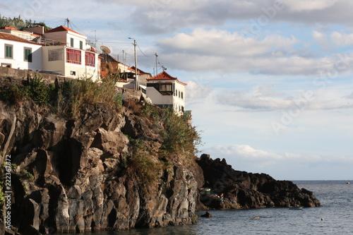 Foto Murales Häuser an der Küste