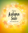 Fall Autumn Colorful Sale Background. Vector.