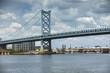Benjamin Franklin Bridge over the Delaware River linking New Jersey to Pennsylvania USA
