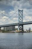 Benjamin Franklin Bridge over the Delaware River linking New Jersey to Pennsylvania USA - 222372419