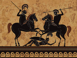 Ancient greece warrior.Hero,spartan,myth.Ancient civilization culture.