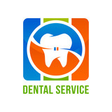 Dental service icon with stylized tooth symbol