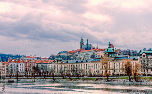 Foto Murales Scenic view of historical center at old town of Prague,Czech Republic