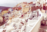details of the architecture of the village of Oia Santorini - 222401602