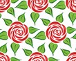 Background with red flowers. - 222407208