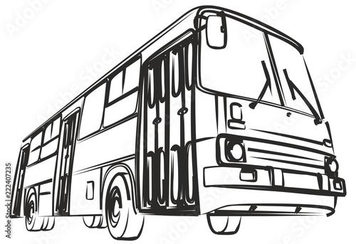 Tapeta Sketch of big bus.