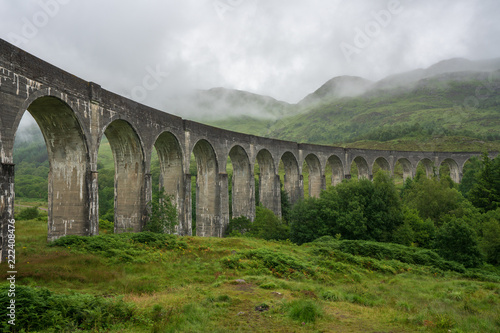 Fridge magnet Glenfinnan Viaduct is a railway bridge on the West Highland Line near the top of Loch Shiel in the West Highlands of Scotland