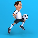 Fun football player - 3D Illustration - 222411897