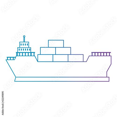 Tapeta cargo ship isolated icon
