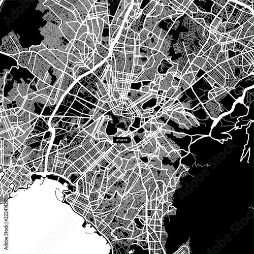 Fototapeta Area map of Athens, Greece