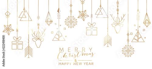 Boże Narodzenie i nowy rok tło z elementami geometrycznymi