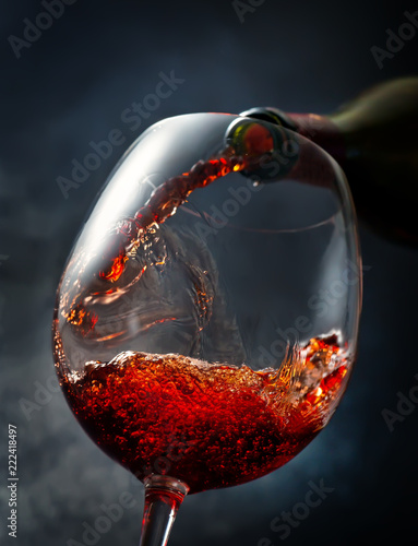 Wine on smoky background - 222418497