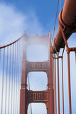 Golden Gate Bridge Close Up Summer day