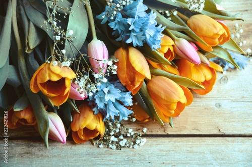 Frühlingsstrauß - Tulpen und Hyazinthen