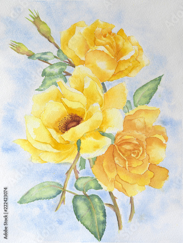 Bouquet of yellow roses © lostproject