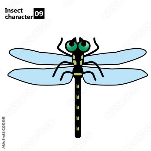 擬人化した昆虫のイラストトンボinsect Character Dragonfly Buy