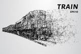 The train of particles.