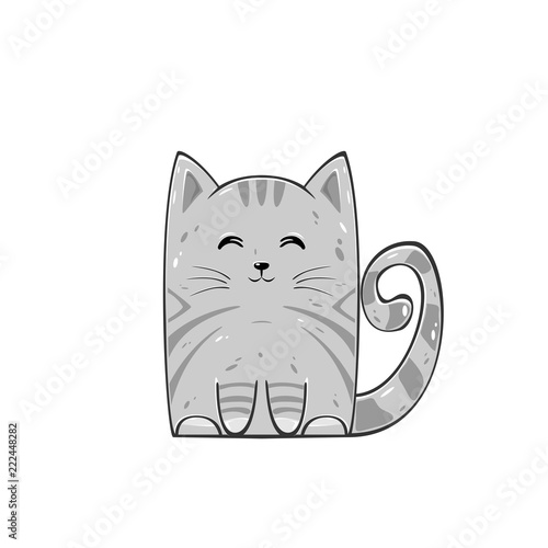 Fototapeta Cute gray cat