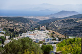 Cyclades style streets and architecture in Lefkes village, Paros, Greece - 222453815