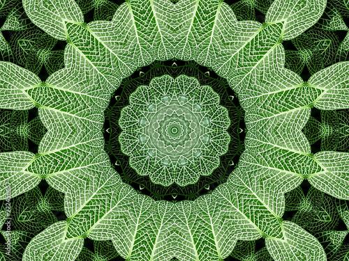 pelna-klatka-bezszwowe-tlo-zielony-wzor-lisci