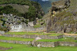 Temple of the Three Windows and the Agricultural Terraces in Distance, Machu Picchu Ancient Inca Ruins in Cusco Region, Peru